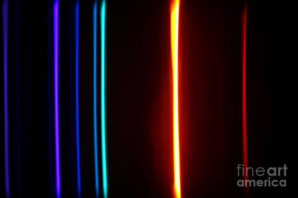 Grating Wall Art - Photograph - Macro Helium Spectra by Ted Kinsman