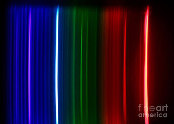Grating Wall Art - Photograph - Macro Krypton Spectra by Ted Kinsman