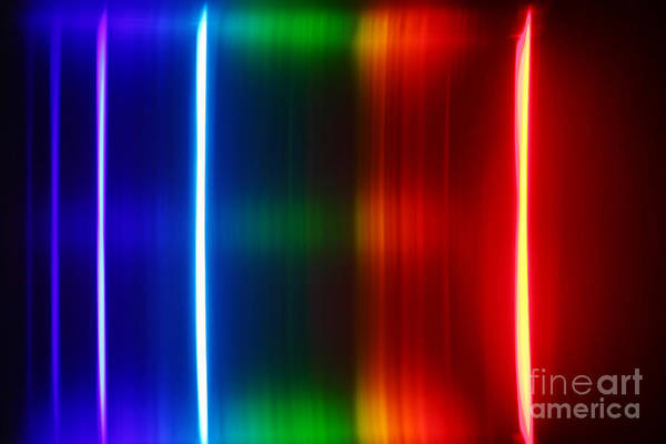 Grating Wall Art - Photograph - Macro Mercury Spectra by Ted Kinsman