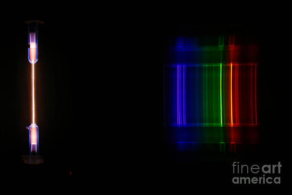 Grating Wall Art -  - Macro Neon Spectra by Ted Kinsman