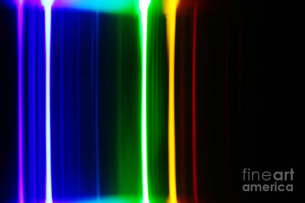 Grating Wall Art - Photograph - Macro Water Spectra by Ted Kinsman