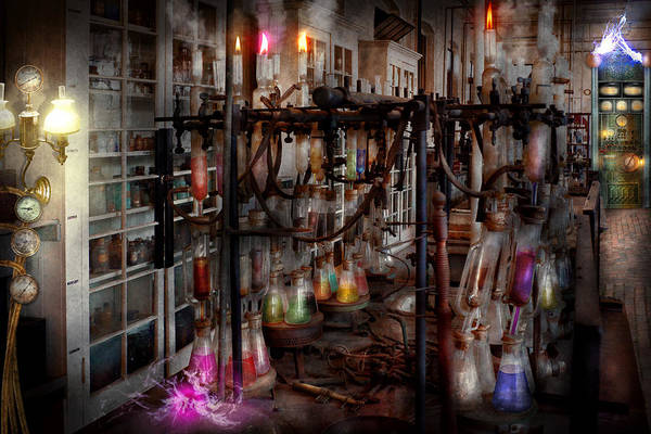 Photograph - Mad Scientist - Essence Of Life Machine by Mike Savad