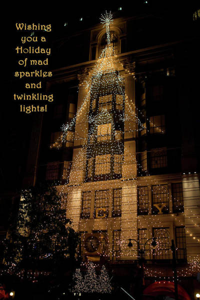 Photograph - Mad Sparkles And Twinkling Lights by Lorraine Devon Wilke