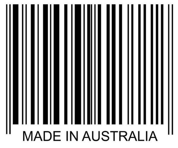Text Photograph - Made In Australia Barcode by David Freund