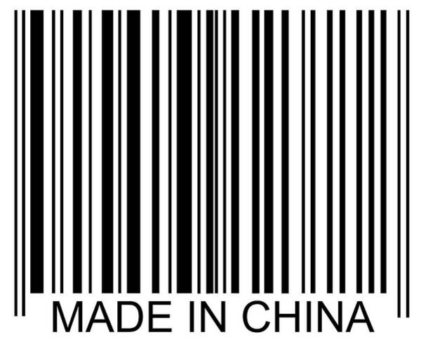 Text Photograph - Made In China Barcode by David Freund