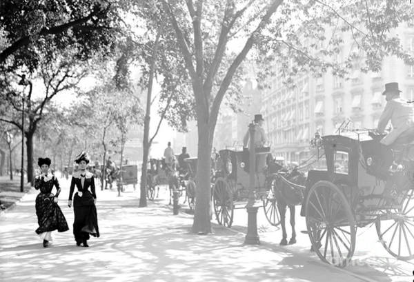 Wall Art - Photograph - Madison Square Cab Stand New York City 1900 by Padre Art