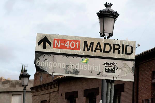 Photograph - Madrid Street Sign by Lorraine Devon Wilke