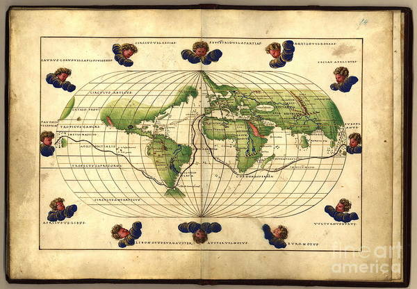 Photograph - Magellans Route 16th Century by Science Source
