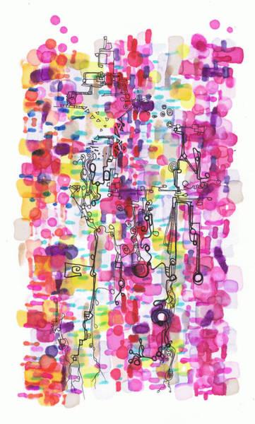 Drawing - Magenta Rhapsody by Regina Valluzzi