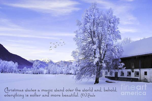 Weihnachten Photograph - Magic Wand by Sabine Jacobs