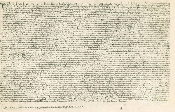 Wall Art - Photograph - Magna Carta by Photo Researchers