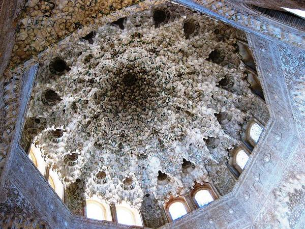 Photograph - Magnificent Ceiling Dome With Exquisite Detail Granada Spain by John Shiron