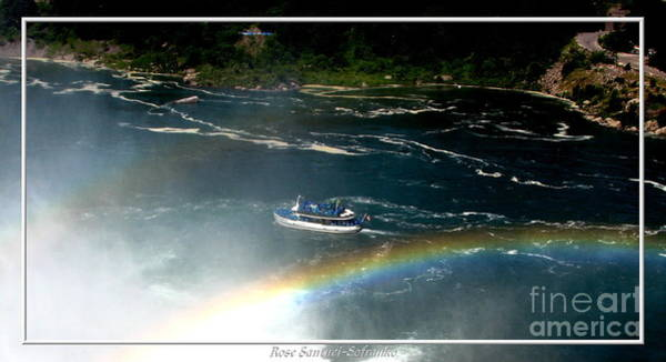 Photograph - Maid Of The Mist And Rainbow At Niagara Falls by Rose Santuci-Sofranko
