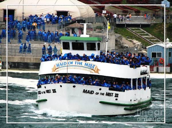 Photograph - Maid Of The Mist Boat At Niagara Falls by Rose Santuci-Sofranko