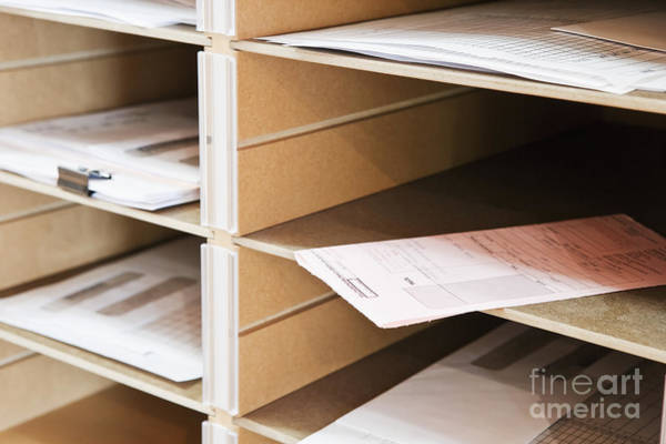 Mail Slot Photograph - Mail In Office Mailboxes by Jetta Productions, Inc