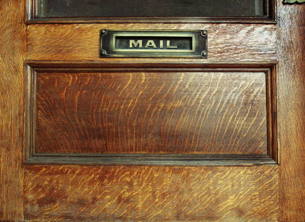 Mail Slot Photograph - Mail by Steven Michael