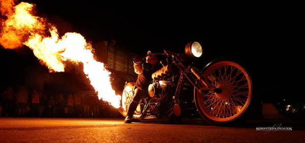 Sturgis Wall Art - Photograph - Main St. Flame Thrower by Don Kates
