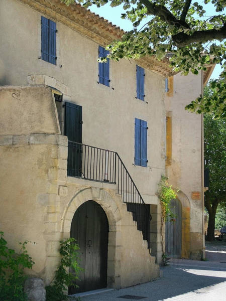 Sandra Anderson Wall Art - Photograph - Maison With Blue Shutters by Sandra Anderson