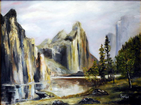 Painting - Majestic Mountains by Phil Burton