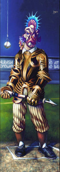 Baseball Bat Wall Art - Painting - Major League Gladiator by Patrick Anthony Pierson