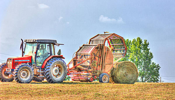 Photograph - Making Hay by Barry Jones