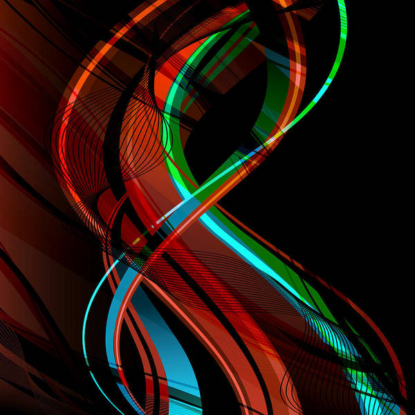 Vibrations Digital Art - Making Music 1 by Angelina Tamez
