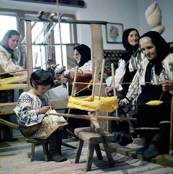 Photograph - Making Wool Clothing In Vrancea Romania by Emanuel Tanjala