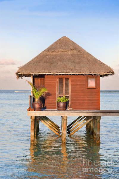 Atoll Photograph - Maldives Villa by Jane Rix