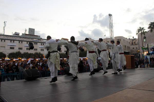 Manger Photograph - Male Dancers At Manger Square by Munir Alawi
