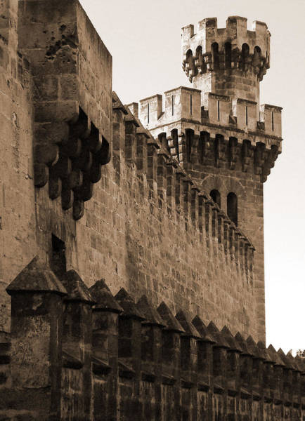 Photograph - Mallorca's Tower Wall by Donna Corless