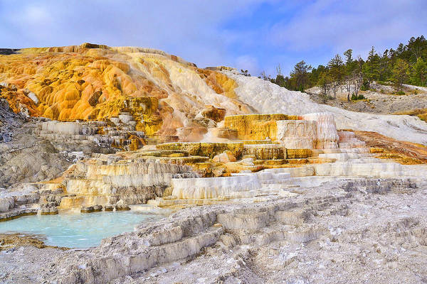 Photograph - Mammoth Hot Springs by Bill Hosford