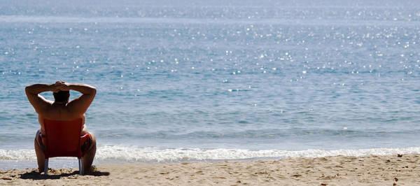 Photograph - Man On Beach by Cliff Norton
