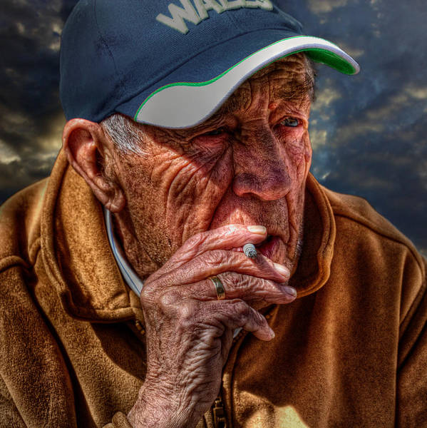 Napanee Photograph - Man Smoking by John Herzog