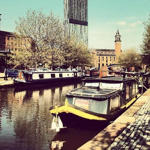 #manchester #manchestercanal #canal Art Print