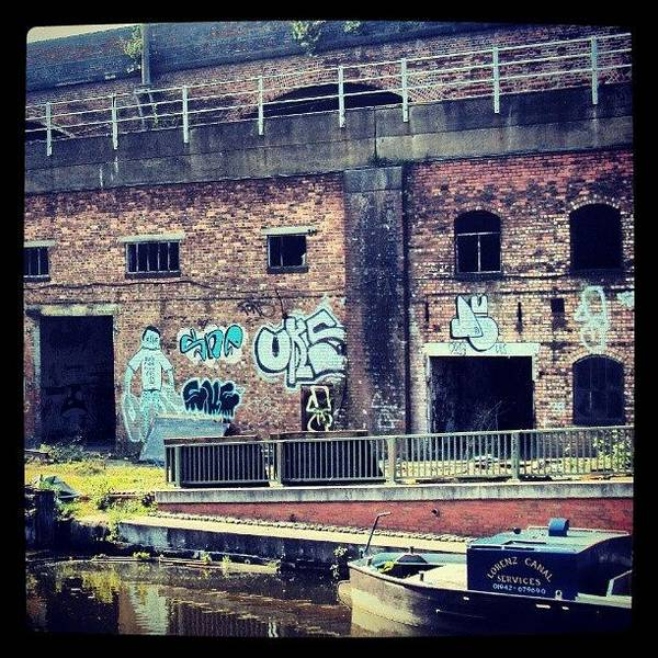 Drawing Wall Art - Photograph - #manchestercanal #manchester #canal #uk by Abdelrahman Alawwad