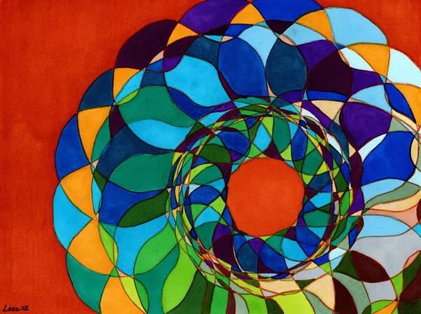Drawing - Mandala by Lesa Weller