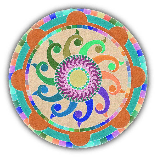 Digital Art - Mandala Meditation 1 V2 by Margaret Denny