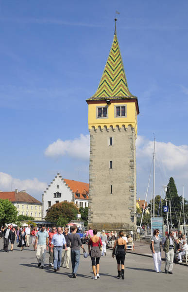 Photograph - Mangturm Tower In Lindau - Old Lighthouse by Matthias Hauser