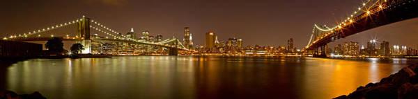 Photograph - Manhattan At Night Panorama 5 by Val Black Russian Tourchin
