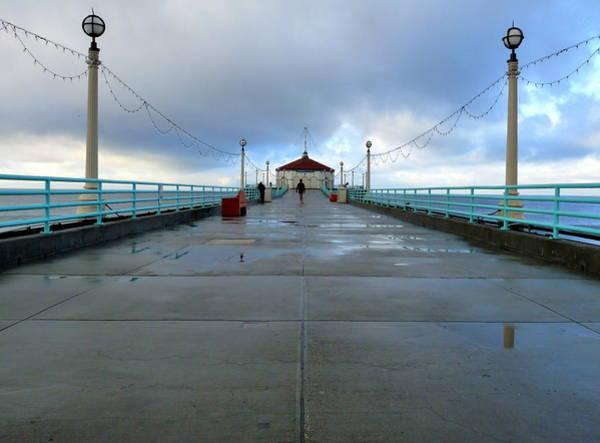 Photograph - Manhattan Beach Pier by Jeff Lowe