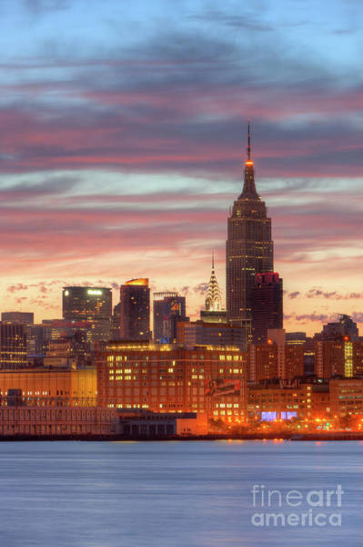 Photograph - Manhattan Buildings And Pre-sunrise Sky by Clarence Holmes