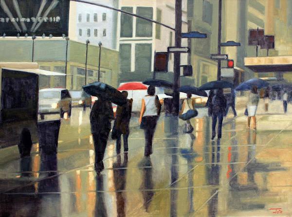 Wall Art - Painting - Manhattan Rain by Tate Hamilton