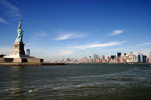 Photograph - Manhattan Skyline by Wes and Dotty Weber