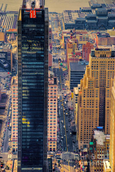 Photograph - Manhattan Streets From Above by Mark Dodd