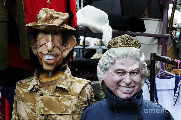 Wall Art - Photograph - Mannequins Dressed As The Queen And Prince Charles  by Liz Pinchen