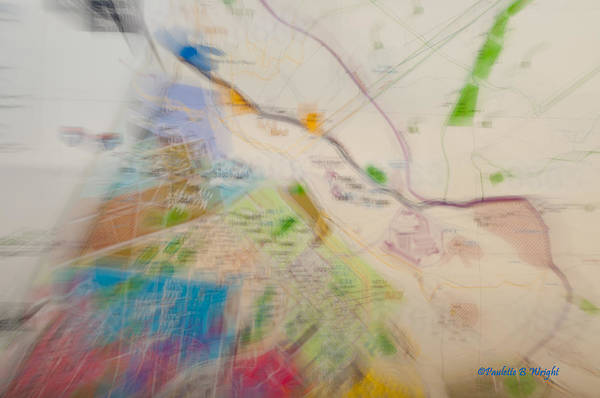 Photograph - Map Abstract 2 by Paulette B Wright