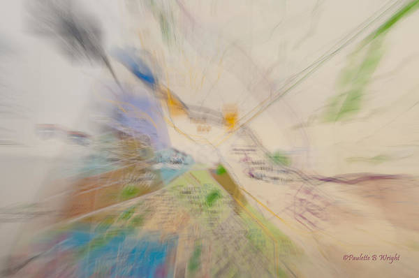 Photograph - Map Abstract by Paulette B Wright