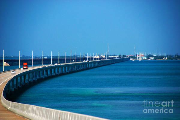 Photograph - Marathon And The 7mile Bridge In The Florida Keys by Susanne Van Hulst