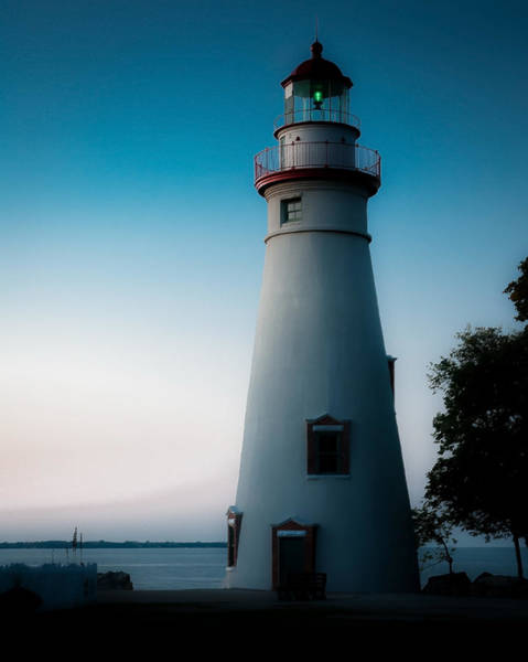 Marblehead Lighthouse Dusk Art Print by John Traveler