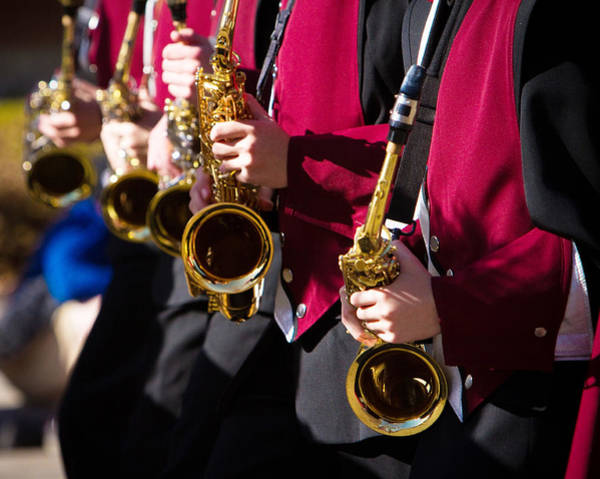 Photograph - Marching Band Saxophones Cropped by James BO Insogna
